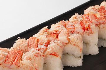 蟹の押し寿司・日本料理