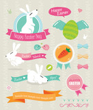 Vector set of easter ornaments and decorative elements