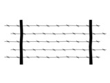 element of barbed wire on a white background