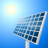 Solar panel vector illustration