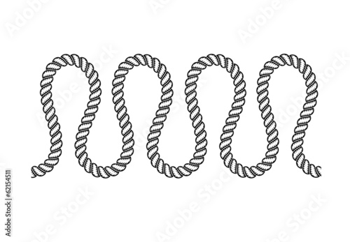 pattern of rope on a white background