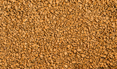 Instant coffee granules, background.