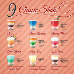 CLASSIC ALCOHOL SHOTS SET