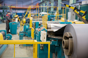 Roll of transformer steel during machining process