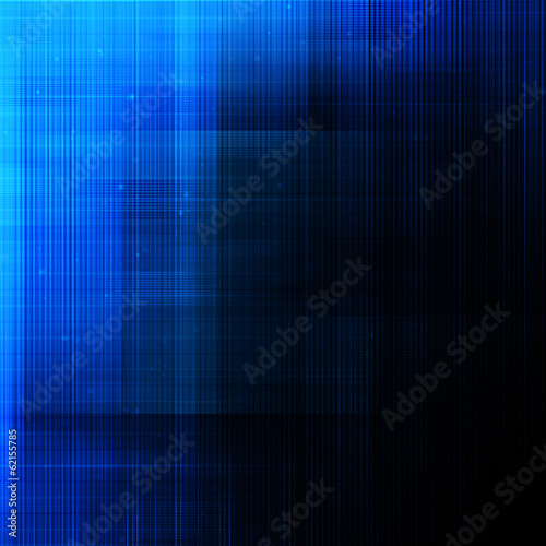 Abstract lines on dark blue background.
