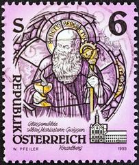 St. Benedict of Nursia glass painting (Austria 1993)