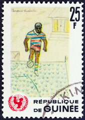 Footballer, children drawing (Guinea 1966)