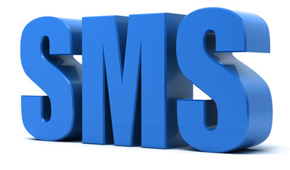SMS 3d text - Short Message Service