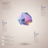 low poly style abstract infographics