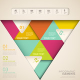 abstract triangle infographics