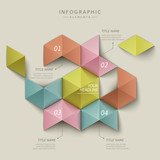 abstract hexagon infographics