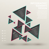 abstract triangle tag infographics