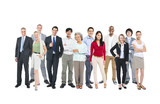 Group of Diverse Occupational People on White Background