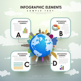 abstract globe infographics