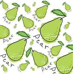 Set of different vector pears
