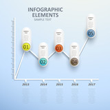 abstract line chart infographics
