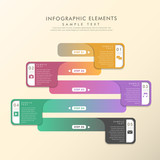 colorful gradient abstract banner infographics