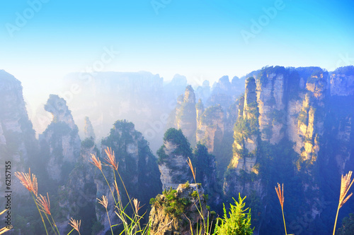 cliff mountains at zhangjiajie national forest park,china