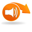 volume sur bouton orange