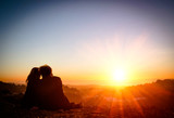 Couple in Love at Sunset - San Francisco Twin Peaks - Fine Art prints