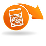 calculatrice sur bouton orange