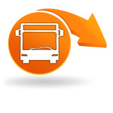 autobus sur bouton orange