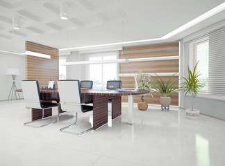 modern office interior. 3d concept