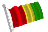 Guinea Flag On Pole