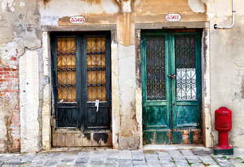Old doors in Venice