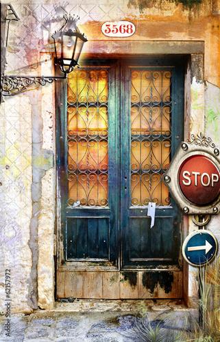 Venetian old door