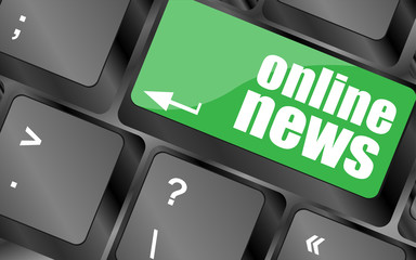 online news button on computer keyboard key