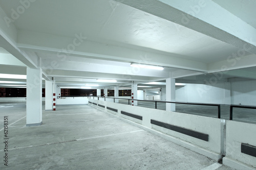 Interior of parking lot