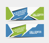 Call Center Web Banner & Header Layout Template.