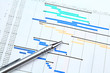Gantt chart and pen - 62159340
