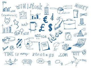 Hand Drawn Business and Finance Symbol Doodles
