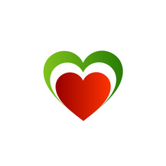 Italian heart- logo with colors of Italian flag