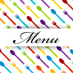 Colorful Restaurant menu design for decoration