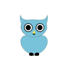 Blue owl- bird of prey