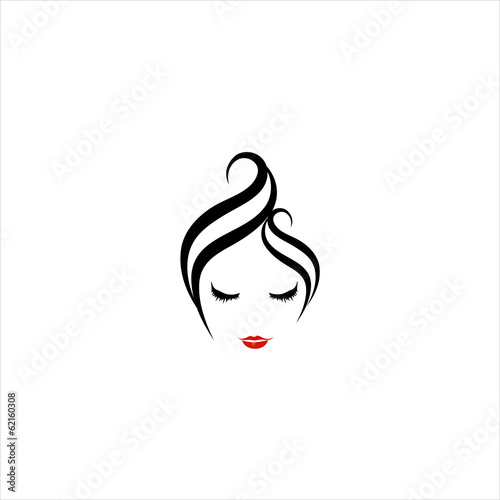 Abstract logo for make up and hair salon