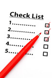 Checklist with number