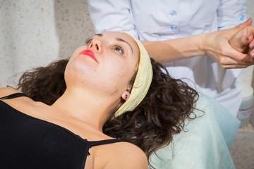 Cosmetology, facial, beauty - The concept of facial skin care