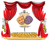 Theater stage illustration