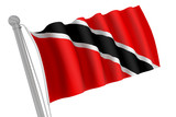 Trinidad and Tobago Flag on Pole
