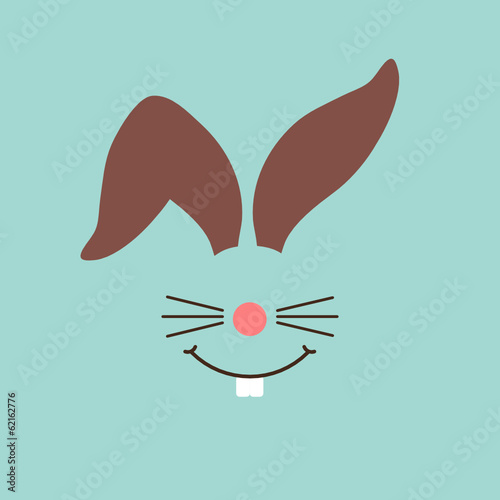 Abstract Bunny Easter Card Retro
