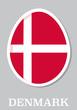 sticker flag of Denmark in form of easter egg