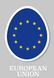 sticker flag of European Union in form of easter egg