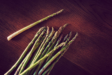 asparagus on wood