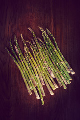 asparagus wood background