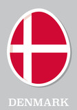 sticker flag of Denmark in form of easter egg