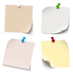 Sammlung - leere Notizzettel